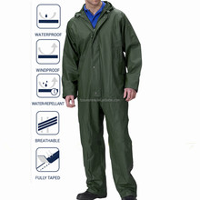 2016 Outdoor Breathable Waterproof Nylon Coverall with hood