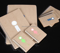 a5 / a3 / a4 lovely Kraft paper eco-friendly note book different sizes