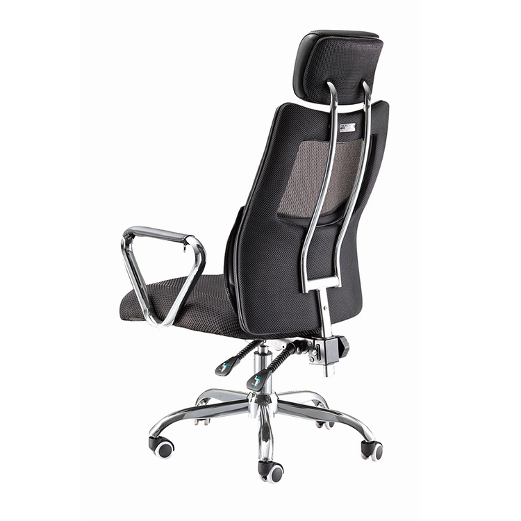 Modern mesh office chairs with armrest and head pillow ergonomic recliner