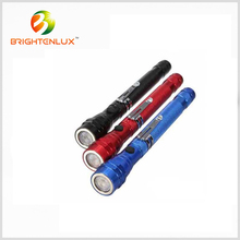 Factory Supply 3 led Aluminum Flashlight with Telescopic Magnetic pick-up Tool