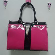 by direct from China factory fashion PVC ladies hangbag/tote bag
