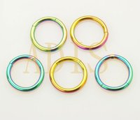 Anodized 16g steel smooth segment ring fake nose piercing ring