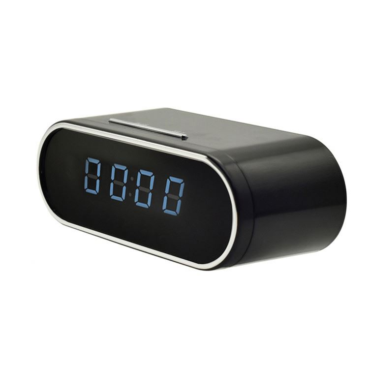 Motion detection 1080p night vision table clock hidden camera for security surveillance