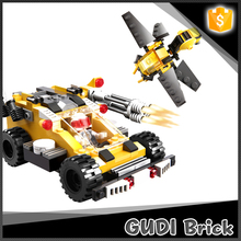185 pcs child toy meteor light chariot bricks toy with scout plane