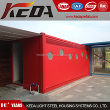 movable prefabricated container toilet with 4-5 WC rooms