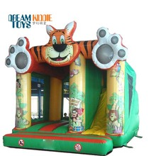 Top quality tiger inflatable jumping house bouncer slide