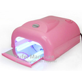 Professional nail uv gel curing machine white pink black plastic 36w uv lamp nail