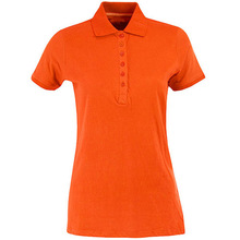 women's office uniform design polo shirt OEM t shirt supplier in China
