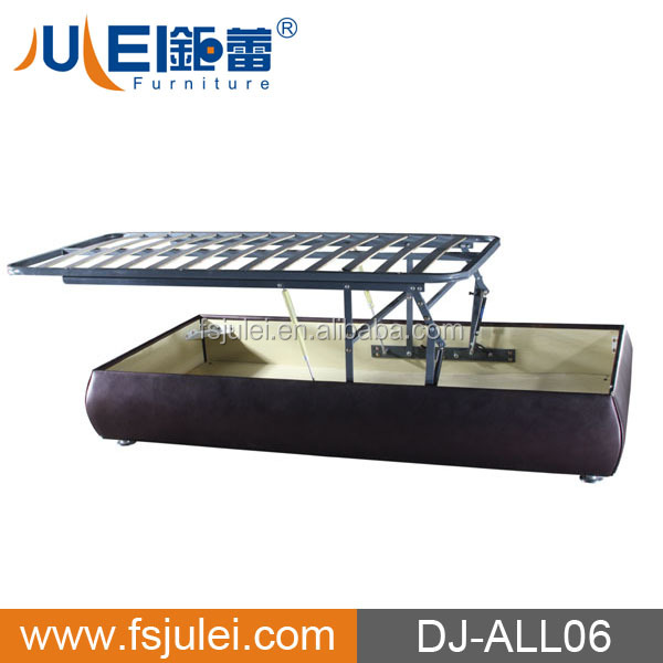new style for easy cleaning horizontal gas lift metal bed frame mechanism DJ-QD01
