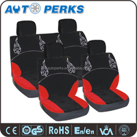 Red fire Polyester Cheap high quality universal car seat cover
