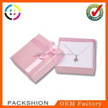 650G paper jewelry packaging box for rings made in dongguan China