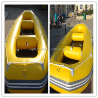 2015fashion style inflatable rafting air boat for 12 person/ Canoeing on beach/ colorful inflatable air boat