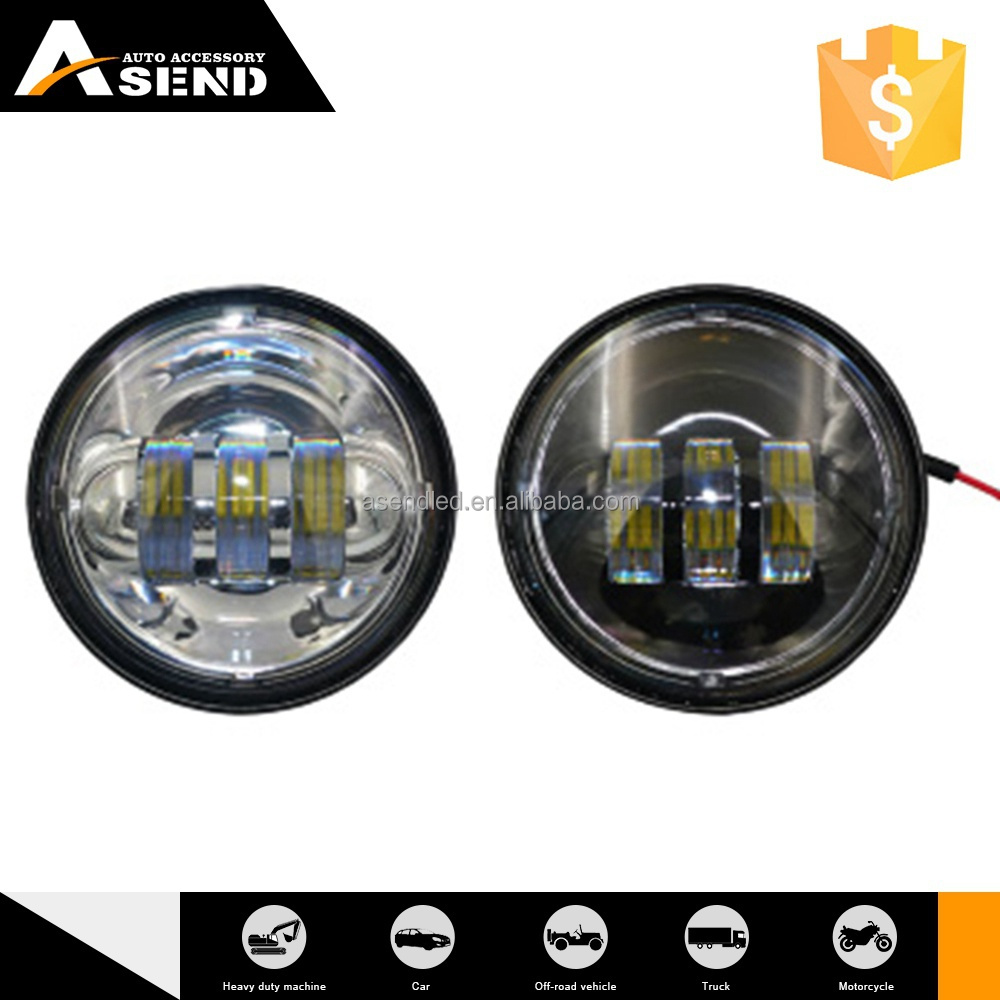 30w led fog lamp high power 4.5'' led fog lamp black bezel for harley led replacement fog lights
