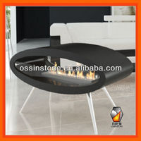 Modern stainless steel freestanding,table ethanol fireplace , bio ethanol fireplace