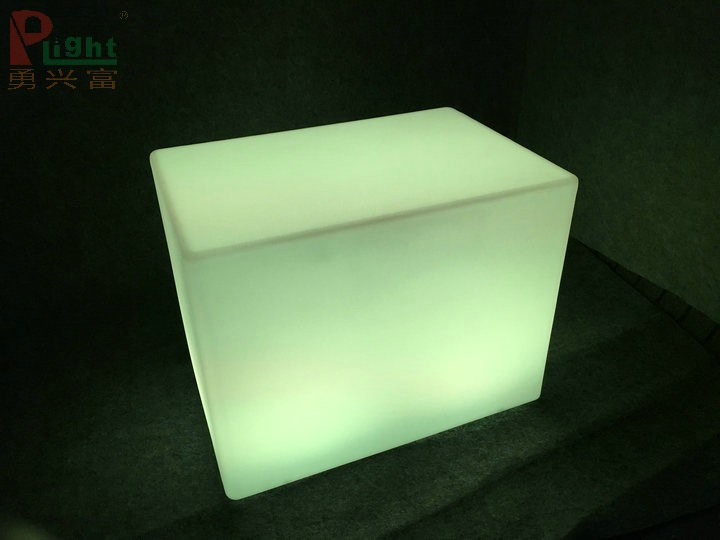 outdoor bar furniture led light glowing plastic led cube