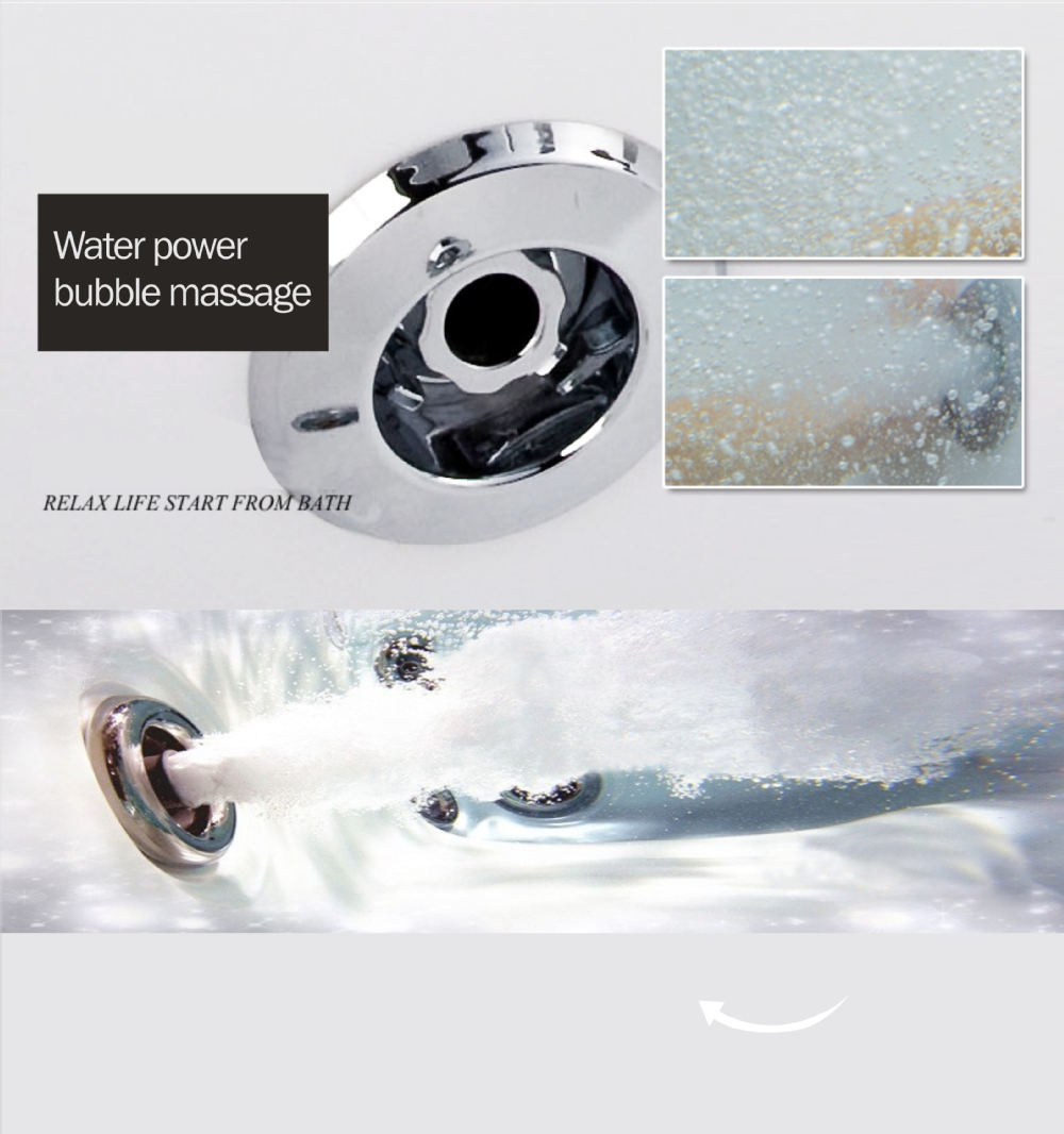whirlpool bathtub surfing spin dancing flow jet part