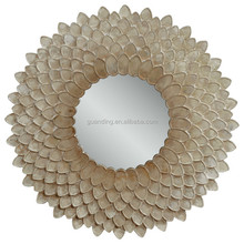 Modern home decorative round sunbrust wall mirror/ hotel decor