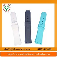 Latest design and promotional item cheap silicone rubber watch strap
