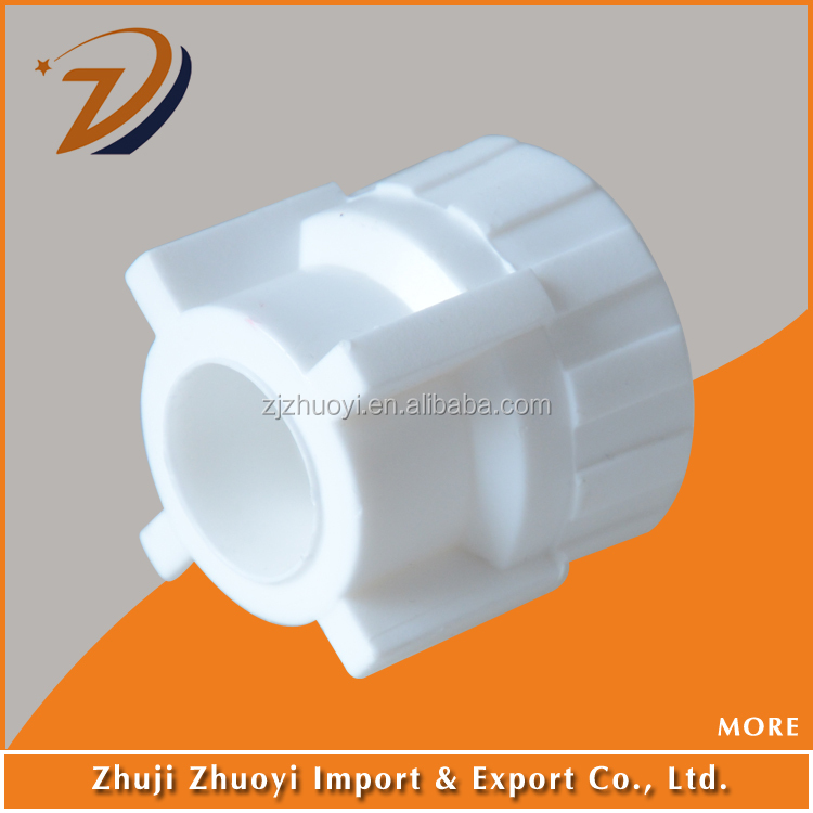 Ppr fittings white color female adapter socket round pipe