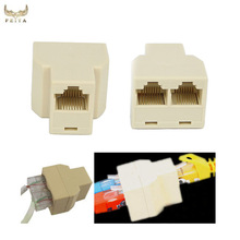 Top quality RJ45 ethernet Splitter female Connector Adapter