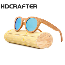 HDCRAFTER 2017 Wooden New Sunglasses Cat Eye Retro Coating Polarized <strong>Bamboo</strong> And Wood Glasses Pure Handmade Sunglasses