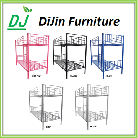 Heavy duty good quality round tube wrought iron bed