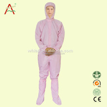 100 Cotton Anti-static Work Woman Clothing for Food Factory