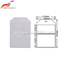 Two pocket Business Clear Soft Plastic Id Card Holder
