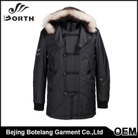 New Unique Design Mens Special Style Jackets Removable hat and Stand collar winter warm comfortable coat men