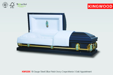 KM1228 american style metal steel casket cheap coffins for sale