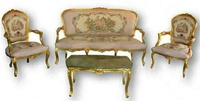 French Louis Xv Style 6 Piece Salon Suite,Reproduction Furniture