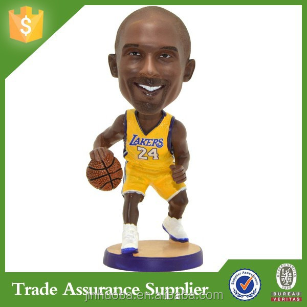 Mini Player Handmade Resin Kobe Bobble Head