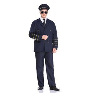 Halloween costumes adult male pilot uniforms lure male police officers train chief captain