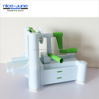 Best Quality As seen on TV 3 in 1 Combined Color Tri-Blade Turning Vegetable Slicer