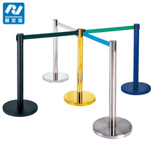 queue management Railing stand Hotel metal queue barrier retractable belt stanchion