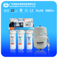 china OEM RO with pump purifier/5 stage with 8 digital display ro water purifier