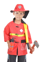 Fireman costumes boys play stage Halloween children clothing firefighters fire fighters