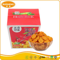 Chinese Spicy Snack 60g Cereal Crisps Roasted Corn Flakes