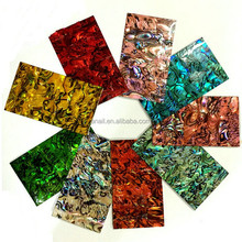 5 pcs/bag Natural abalone paua shell nail art shell paper nail art shell pattern stickers