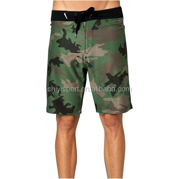 2016 Newly Design Army Printed Beach Sport Surf Board Shorts Pant Quick Dry Mens Swim Wear Trunks