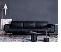 Scandinavian italian modern nubuck leather 3 seater sofa home for home furniture with wholesale price