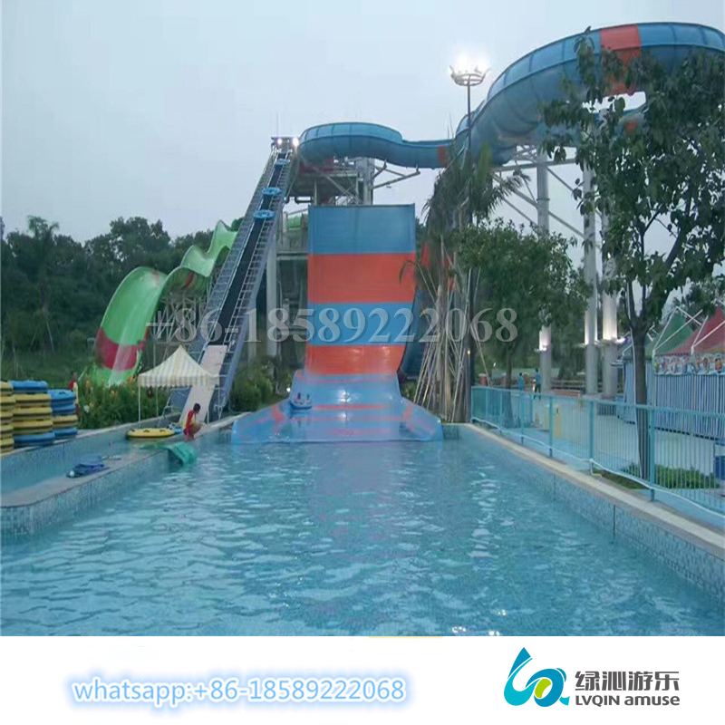 Hot sale outdoor giant amusement fiberglass slide water park equipment