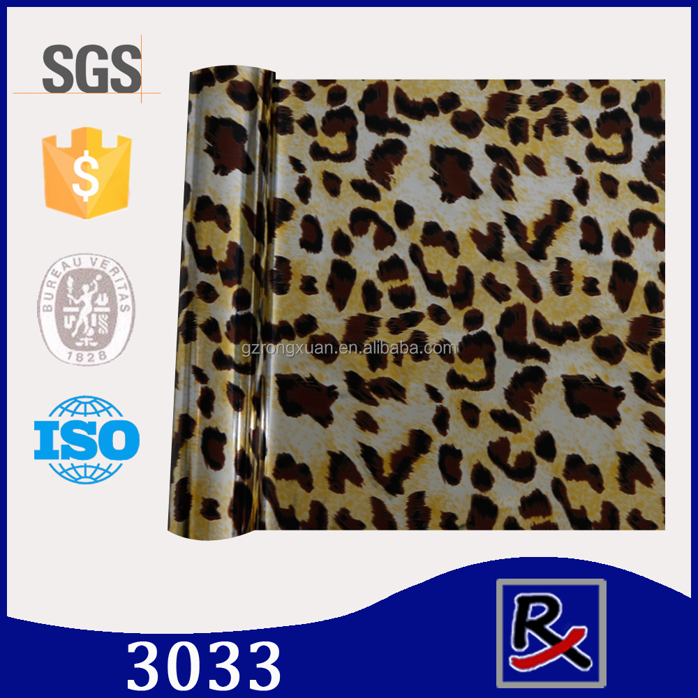 3033# animal skin sublimation transfer printing film bag cap hot stamping foil