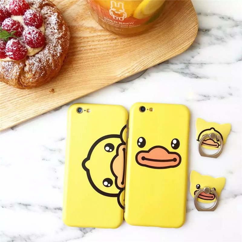For iphone 7 Gen Cute 3D Animal Yellow Duck Silicone TPU soft Case / Cover
