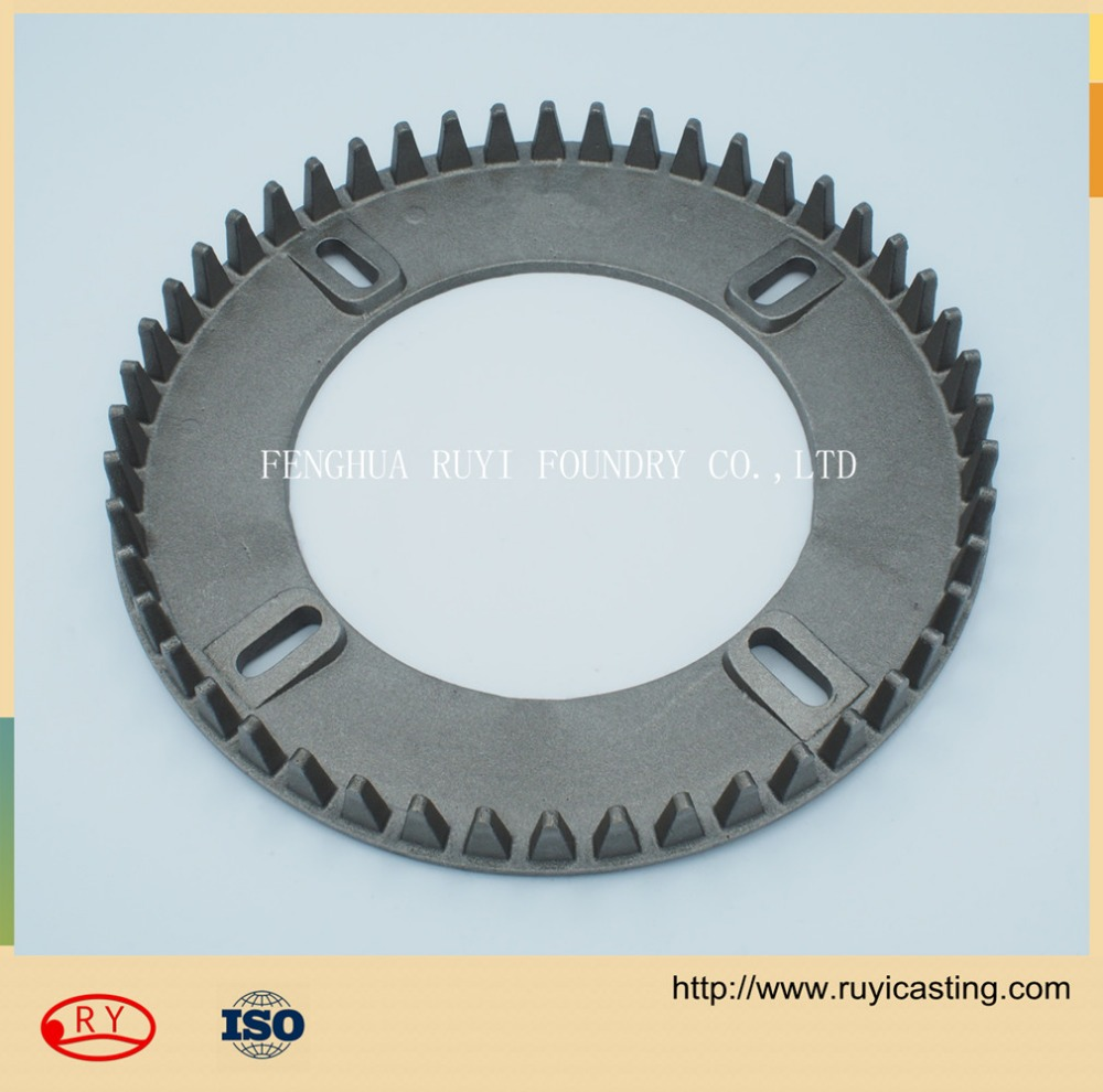 ductile cast iron and grey cast cast iron gear wheel