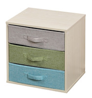 Hot Selling 3 drawers Sisal Fabric Drawer Woode Storage Cabinet, Chinese Storage Chest