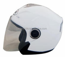 motorcycle open face helmet solid