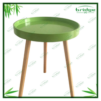 side table 2016 modern and decorative MDF coffee table with Pine wood legs sofa table