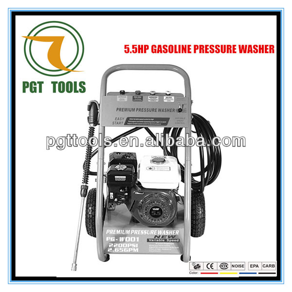 5.5HP 2900PSI Gasoline Used Motor Oil Vessel Jet Power High Pressure Washer Cleaning Machine