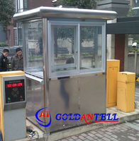 Parking lot system simple design factory price high quality portable sentry house security traffic box booth